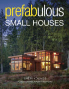 """This undated photo provided by The Taunton Press shows the cover of the book """"Prefabulous Small Houses"""" by Sheri Koones. (Patrick Barta Photography via AP)"""