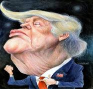 karikatur Donald Trump