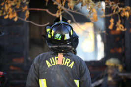 Aurora firefighters investigate a fire that happened on Monday Oct. 17, 2016 at 1244 S Xeno Way. Photo by Gabriel Christus/Aurora Sentinel