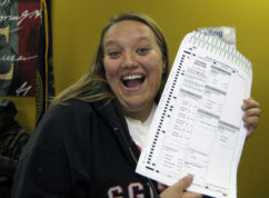 In this Oct. 20, 2008, photo provided by Nikola Halycyone Jordan, Jordan poses with her election ballot in Omaha, Neb. Jordan believes the selfies are a great way not only to share her views on the issues, but also to stress the importance of voting and being civically active. A Nebraska lawmaker added a provision to state election law in 2016 to allow ballot selfies. (Mari Zaporowski/Courtesy of Nikola Halycyone Jordan via AP)