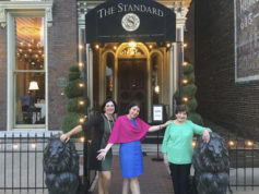This Sept. 14, 2016 photo provided by Anne D'Innocenzio shows Donna Burke, left, Associated Press writer Anne D'Innocenzio, center, and her mother Marie D'Innocenzio, standing for a photo outside The Standard at The Smith House in Nashville, Tenn. (Anne D'Innocenzio via AP)