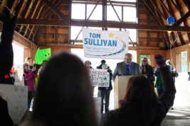 Tom Sullivan announces he will run for State Senate District 27 on Tuesday Feb. 23, 2016 at Silo Park. Photo by Gabriel Christus/Aurora Sentinel