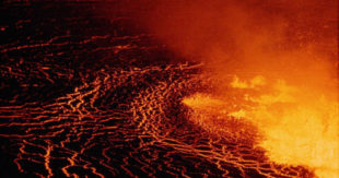 """This image released by Netflix shows a scene from """"Into the Inferno,"""" written and directed by Werner Herzog. The film explores active volcanoes around the world. (Netflix via AP)"""