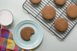 This September 2016 photo shows chewy molasses cookies in New York. This dish is from a recipe by Katie Workman. (Sarah E. Crowder via AP)