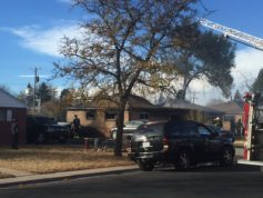 Firefighters work to put out a house fire at 2710 E. 7th Ave Nov. 16, 2016. Four people were hospitalized because of the blaze, officials said. PHOTO COURTESY OF AURORA SENTINEL NEWS PARTNER  7NEWS