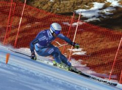 Norway's Kjetil Jansrud speeds down the course during an alpine ski, mens' World Cup Super G race, in Val d'Isere, France, Friday, Dec. 2, 2016. (AP Photo/Alessandro Trovati)