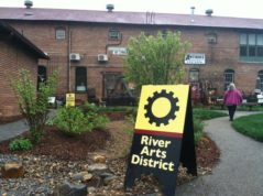 FILE - This April 19, 2015, file photo, shows an antiques store in the River Arts District of Asheville, N.C. Lonely Planet has named Asheville the No. 1 destination on its 10 best in the U.S. list for 2017. (AP Photo/Beth J. Harpaz, File)