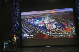 Lennard Otto, Chief Executive Officer of IMG Worlds of Adventure speaks during a press conference in Dubai, United Arab Emirates, Tuesday, Dec. 6, 2016. The Dubai developer that recently opened the world's largest indoor theme park now plans an even bigger attraction next door. The Ilyas and Mustafa Galadari Group said Tuesday that its planned IMG Worlds of Legends park will spread across more than 2 million square feet (186,000 square meters) near the existing IMG Worlds of Adventure, which opened at the end of August. (AP Photo/Kamran Jebreili)