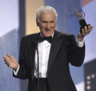 """FILE - In a June 8, 2003 file photo, Dick Latessa accepts the Tony award for Best Featured Actor in a Musical for """"Hairspray"""" during the 57th Annual Tony Awards, at New York's Radio City Music Hall. Latessa, veteran Broadway actor who was in the original productions of """"Follies,"""" """"Brighton Beach Memoirs"""" and """"The Will Rogers Follies"""", died Monday, Dec. 19, 2016, according to actor Fierstein, who announced the news Tuesday. He was 87. (AP Photo/Richard Drew, File)"""