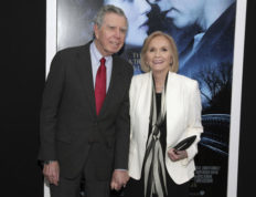 "FILE - In this Feb. 11, 2014 file photo, actress Eva Marie Saint, right, poses with her husband, writer/director/producer Jeffrey Hayden at the world premiere of ""Winter's Tale"" in New York. Hayden died at his Los Angeles home on Dec. 24, 2016. He was 90. (Photo by Andy Kropa/Invision/AP, File)"