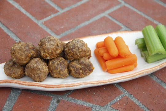 Healthy Plate Baked Buffalo Style Meatballs