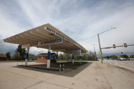 This former gas station will become a drive through where customers can pick up online orders on Friday May 27, 2016 at Parker and Quincy. Photo by Gabriel Christus/Aurora Sentinel