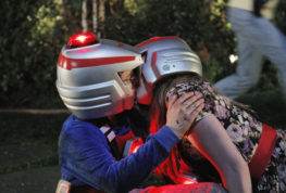 """This image released by ABC shows Sean Giambrone, left, as Adam and Natalie Alyn Lind as Dana kissing in a scene from the comedy series, """"The Golbergs."""" The series is based on creator Adam Goldberg's 1980s childhood. (Tony Rivetti/ABC via AP)"""