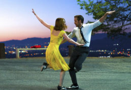 "This image released by Lionsgate shows Ryan Gosling, right, and Emma Stone in a scene from, ""La La Land."" Nominees for the 89th Academy Awards will be announced on Tuesday, Jan. 24, 2017. (Dale Robinette/Lionsgate via AP)"