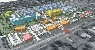 Pictured is an artist rendering of an approximately 50,000-square-feet retail center proposed by Northstar Commercial Partners between Sable Boulevard and Chambers Road, in north Aurora. Courtesy photo