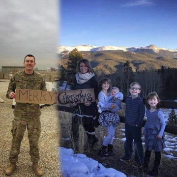 Military Family Christmas Photo