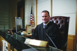 Aurora Judge Shawn Day poses for a portrait on Tuesday Sept. 06, 2016 at Aurora Municipal Court division 6. Judge Day has replaced longtime Aurora Municipal Court Presiding Judge Richard Weinberg as interim presiding judge, while Aurora City Council decides how it will conduct a search for a replacement. Photo by Gabriel Christus/Aurora Sentinel