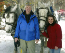 "This photo provided by the Gorsuch family shows Judge Neil Gorsuch with his wife Louise and horses. Gorsuch is roundly described by colleagues and friends as a silver-haired combination of wicked smarts, down-to-earth modesty, disarming warmth and careful deliberation. His critics largely agree with that view of the self-described ""workaday judge"" in polyester robes. Even so, they're not sure it's enough to warrant giving him a spot on the court.  (Gorsuch family via AP)"