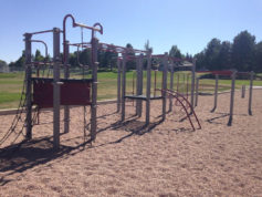 Pictured is an existing playground at Arrowhead Elementary in Aurora. Arrowhead was one of two Aurora schools to receive a more than $100,000 grant for play area improvements from Great Outdoors Colorado.