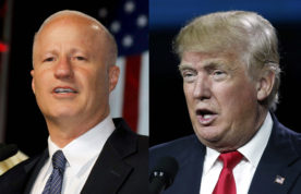 LEFT: U.S. Rep. Mike Coffman, R-Aurora. RIGHT: Businessman and Republican presidential candidate Donald Trump