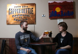 Jeremy Gobien and his wife, Kristen Kozik, are the owners of Copper Kettle on Tuesday March 22, 2016. Photo by Gabriel Christus/Aurora Sentinel