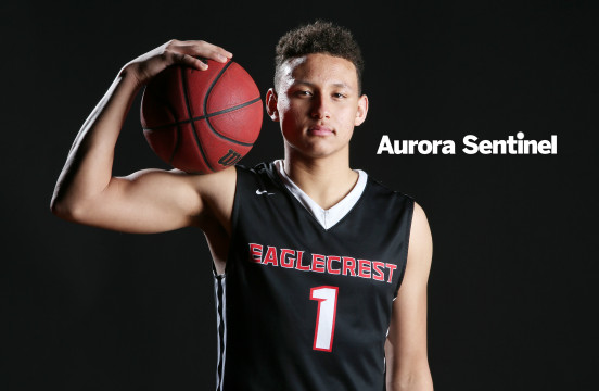 Eaglecrest's Colbey Ross is on the Team East roster for the A-Town All-Stars Game on March 26 at Aurora Central High School. (Photo by Gabriel Christus/Aurora Sentinel)