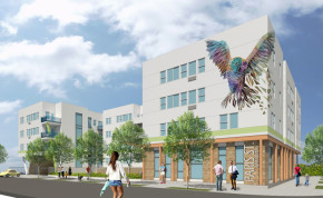 A conceptual rendering of a planned development on Paris Street in Aurora. Provided by Brothers Redevelopment