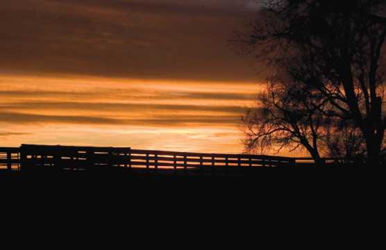 Stull Ranch at sunset in Sterling. Photo by Christie Cooper-Smith