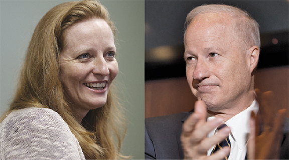 State Sen. Morgan Carroll, left and Congressman Mike Coffman, right, battling in 2016 for the 6th Congressional District seat