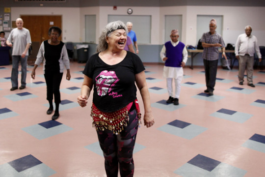 Wanda Serino-Washington leads the Refugee Elder Zumba class every Friday at the Aurora Center for Active Adults. It is a great opportunity for refugee elders, as well as other ACAA members, to take advantage of the dancing and the fitness benefits that th