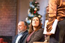 """Paul Page, Molly Killoran and Jan Cleveland star in """"Other Desert Cities"""" at the Vintage Theatre."""