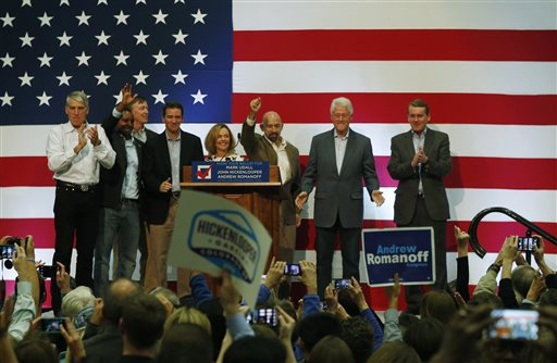 Mark Udall, Joe Neguse, John Hickenlooper, Andrew Romanoff, Betsy Markey, Joe Garcia, Bill Clinton, Michael Bennet