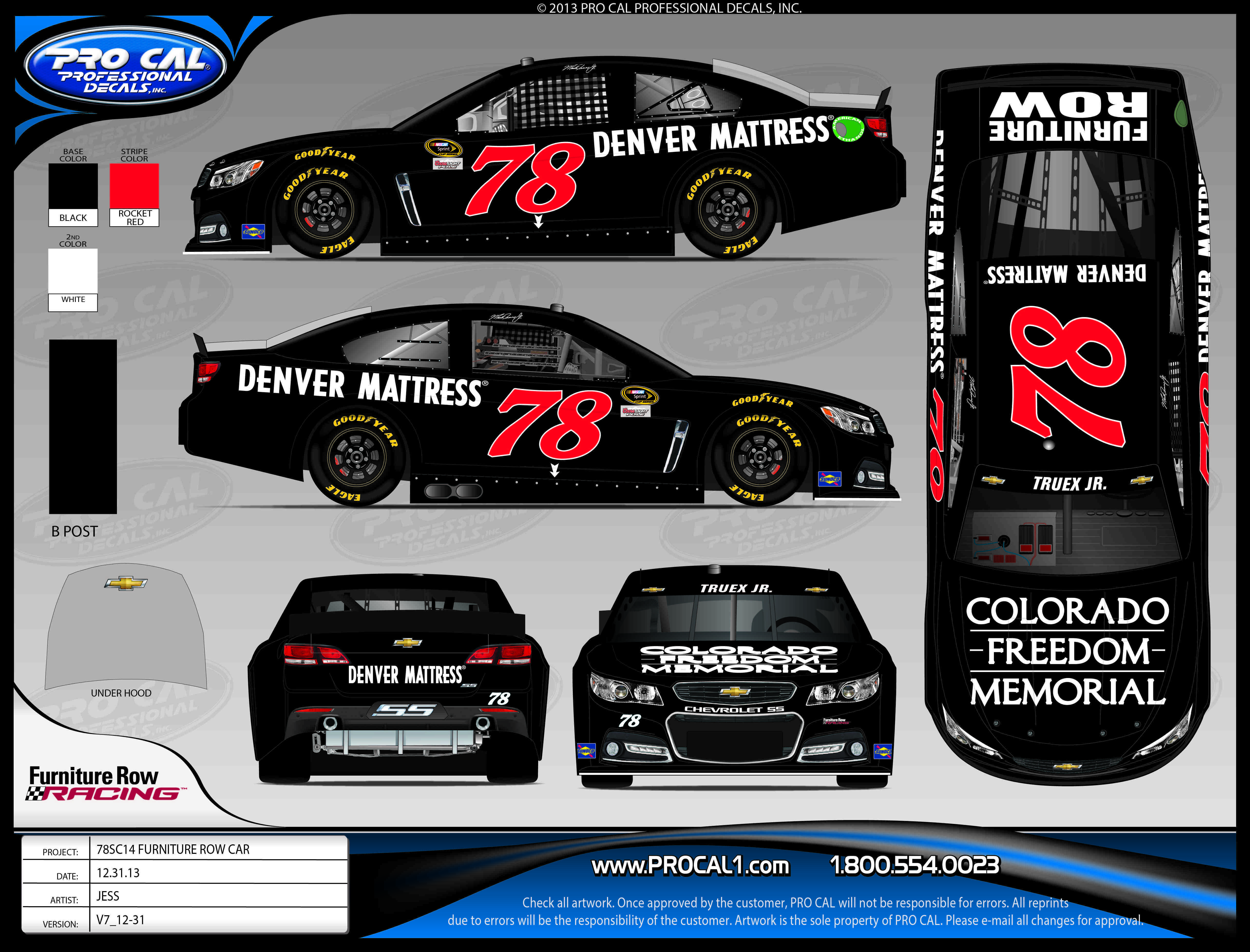 A rendering of the race car that will be on display tomorrow at the Colorado Freedom Memorial. Phoeo courtesy Colorado Freedom Memorial.