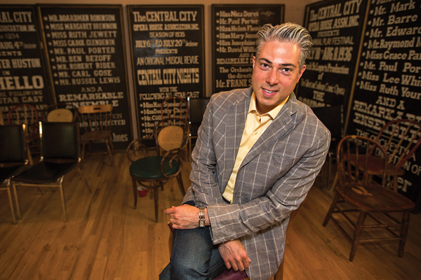 "Marc Astafan is the stage director for ""Barber of Seville"", just one of the many shows appearing at Central City's Opera house. The summer season features a mix of old standards and new works. ""The Barber of Seville,"" ""Showboat"" and a new operatic adaptation of Thornton Wilder's ""Our Town"" make up the program that will run at the opera in Central City and at the Denver Center for the Performing Arts.  (Marla R. Keown/Aurora Sentinel)"