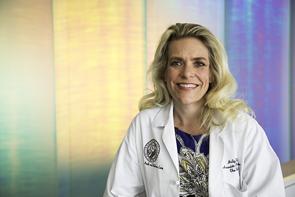 Dr. Holly Wyatt poses April 2 and the Anschutz Health and Wellness Center. Wyatt, the medical director at the Anschutz Health and Wellness Center, is one of the doctors leading the local ENDO trial, a clinical trial to evaluate a new approach for type 2 diabetes treatment.