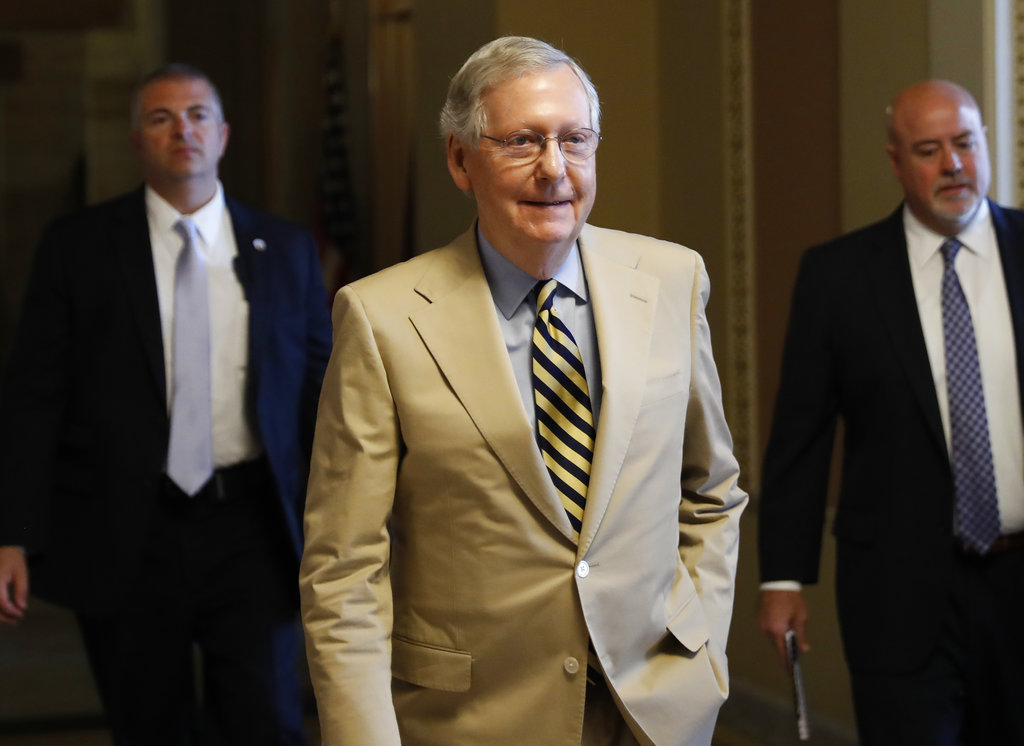 Senate leaders scramble to save health bill amid defections