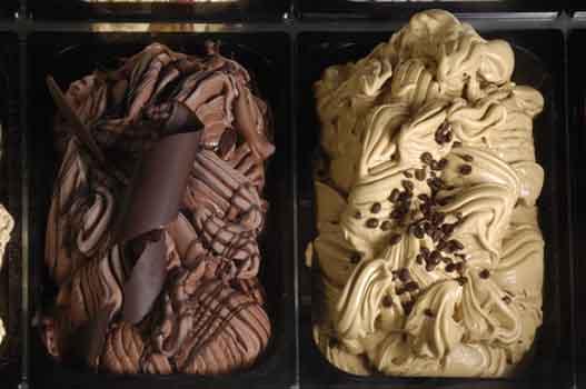 Ice cream cofee and chocolate