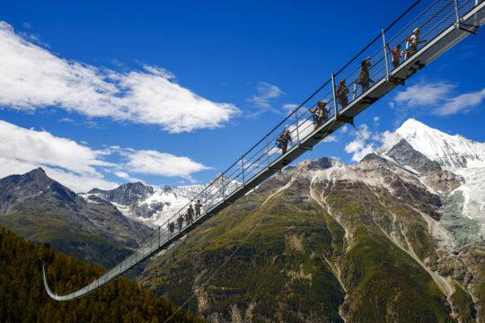 APTOPIX Switzerland Bridge