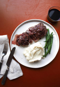 Food Deadline Strip Steak Diane