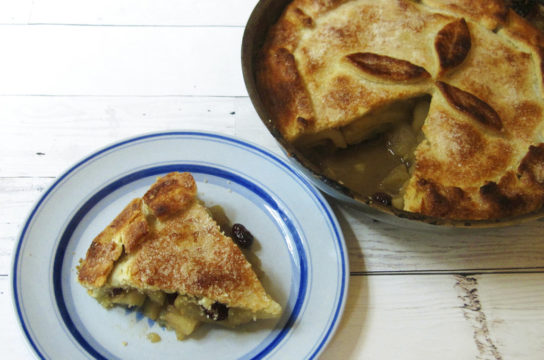 Food KitchenWise Skillet Apple Cranberry Pie
