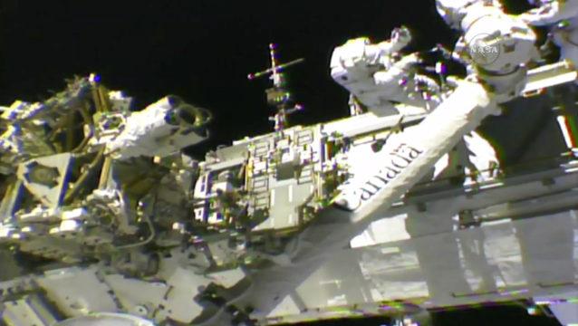 NASA streams first of three October spacewalks