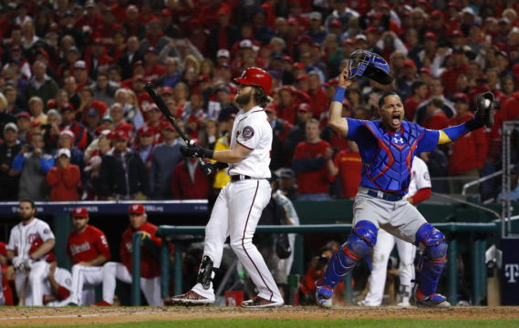 APTOPIX NLDS Cubs Nationals Baseball