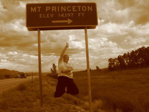 mt. princeton sign jumper