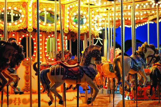 Vintage carousel detail