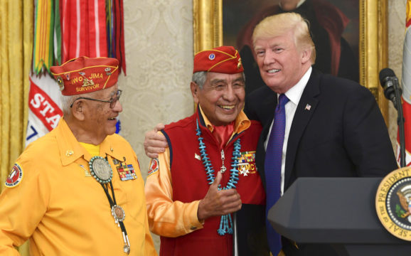 Trump Disparages Elizabeth Warren With 'Pocahontas' Remark During Ceremony Honoring Native Americans