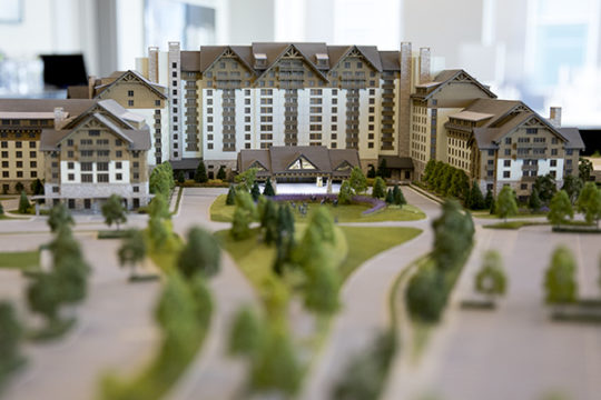 A scale model of the Gaylord Rockies Resort and Convention Center. Photo by Philip B. Poston/Aurora Sentinel
