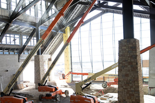 Construction of what will be the Grand Lodge at the Gaylord Rockies Resort and Convention Center.Photo by Philip B. Poston/Aurora Sentinel