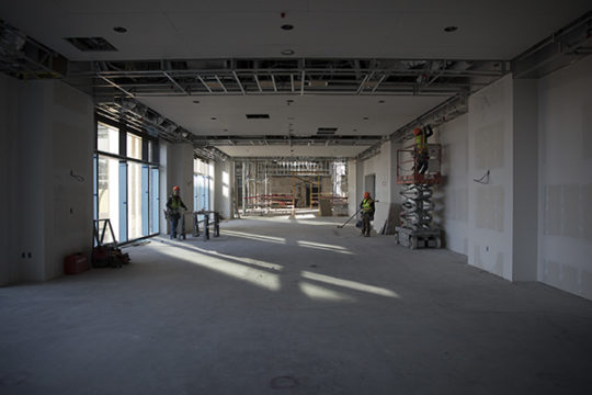 Construction of the hallway which leads to the convention center. Photo by Philip B. Poston/Aurora Sentinel