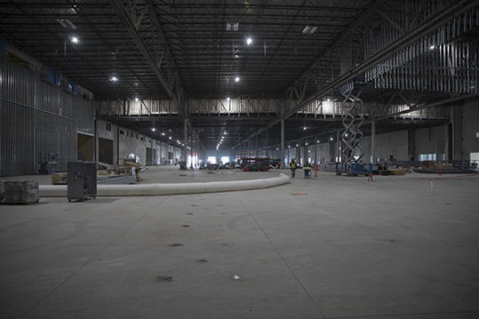 The shell of the 175,000 sq. ft. convention center.Photo by Philip B. Poston/Aurora Sentinel