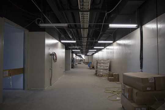 """What is being dubbed """"The Colorado Trail,"""" is a corridor which serves as a behind the scenes passageway for employees to load and unload materials needed for future conventions.Photo by Philip B. Poston/Aurora Sentinel"""